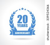 20 years anniversary icon... | Shutterstock .eps vector #339524366