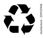 recycle symbol. vector... | Shutterstock .eps vector #339525968