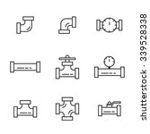 pipes and fittings  tap. vector ... | Shutterstock .eps vector #339528338