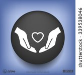 pictograph of heart in hand | Shutterstock .eps vector #339538046