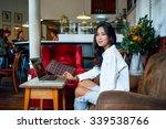 young beautiful asian business... | Shutterstock . vector #339538766