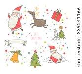 lovely christmas vector set in... | Shutterstock .eps vector #339541166