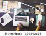 video call conference chatting... | Shutterstock . vector #339543896