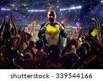 fans on stadium game businessman | Shutterstock . vector #339544166