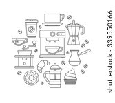 coffee outline icons set | Shutterstock .eps vector #339550166