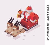 xmas time with santa. vector... | Shutterstock .eps vector #339554666