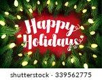 typographic christmas card ... | Shutterstock . vector #339562775
