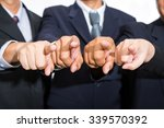 businessman pointing finger for ... | Shutterstock . vector #339570392