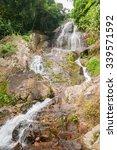 the waterfall in samui island ... | Shutterstock . vector #339571592