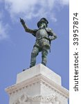 A Statue  Ca. 1882  Of Ponce D...