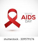 world aids day ribbon design.... | Shutterstock .eps vector #339579176