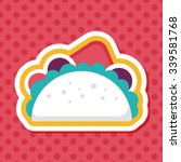 sandwich flat icon with long... | Shutterstock .eps vector #339581768