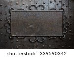 metal sign plate on old... | Shutterstock . vector #339590342