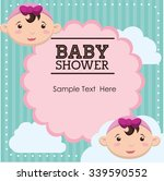 baby shower concept with cute... | Shutterstock .eps vector #339590552