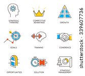 vector set of icons related to... | Shutterstock .eps vector #339607736