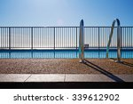 swimming pool edge with ladder  ... | Shutterstock . vector #339612902