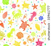 seamless sea life pattern | Shutterstock .eps vector #33961777