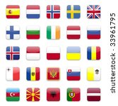 europe flags round icon set  | Shutterstock . vector #33961795