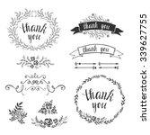 set of decorative design... | Shutterstock .eps vector #339627755