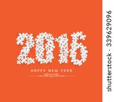 stylish text 2016 made by... | Shutterstock .eps vector #339629096