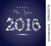 glossy stylish text 2016 made... | Shutterstock .eps vector #339629276