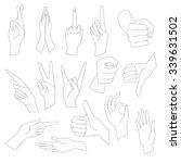 linear vector illustrations set ...   Shutterstock .eps vector #339631502