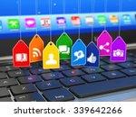 social media internet...   Shutterstock . vector #339642266