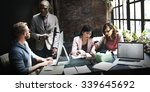 business team meeting... | Shutterstock . vector #339645692