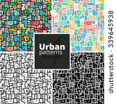 set of seamless urban patterns. ... | Shutterstock .eps vector #339645938