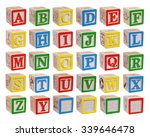 Wooden Alphabet Blocks Isolate...