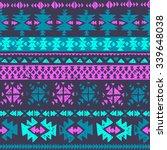 neon color tribal navajo...   Shutterstock .eps vector #339648038
