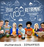 retirement insurance pension... | Shutterstock . vector #339649505