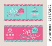 gift voucher template   eps10... | Shutterstock .eps vector #339672872
