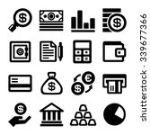 business and finance icons set. ... | Shutterstock .eps vector #339677366