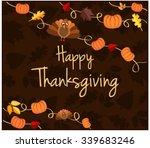 happy thanksgiving greeting... | Shutterstock .eps vector #339683246