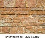 red bricks wall  medieval church | Shutterstock . vector #33968389