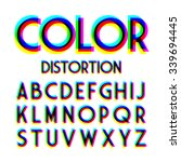 color distortion alphabet.... | Shutterstock .eps vector #339694445
