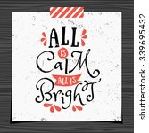 christmas typographic design... | Shutterstock .eps vector #339695432