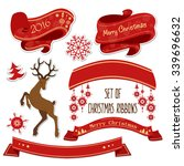 vector set of new year  ribbons ... | Shutterstock .eps vector #339696632