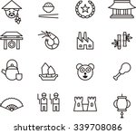 china outline icons | Shutterstock .eps vector #339708086