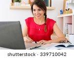 beautiful smiling female... | Shutterstock . vector #339710042