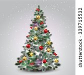 christmas tree | Shutterstock .eps vector #339715532