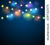 glowing lights   colorful fairy ... | Shutterstock .eps vector #339732575