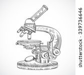 microscope. vintage science... | Shutterstock .eps vector #339736646