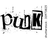 the word punk written in grunge ... | Shutterstock . vector #33973825