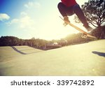 skateboarder legs doing a trick ... | Shutterstock . vector #339742892