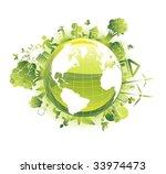 ecology vector concept | Shutterstock .eps vector #33974473