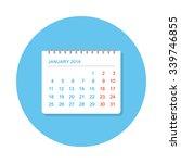 flat calendar icon top view | Shutterstock .eps vector #339746855