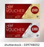 gold vip club card. voucher... | Shutterstock .eps vector #339748052