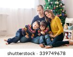 happy family having fun at home ... | Shutterstock . vector #339749678